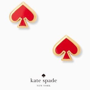 kate spade everyday spade red enamel stud earrings